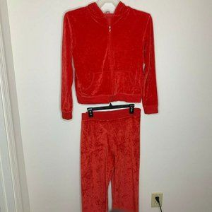 Victoria's Secret Red Sleepwear S/M Jacket/Pants